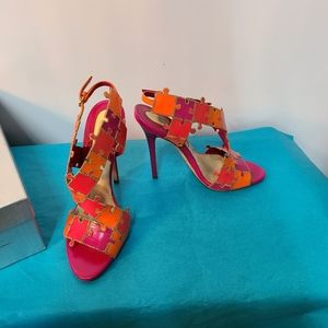 Brian Atwood Leather Puzzle Heels